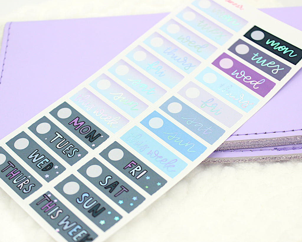 Magical Dreamer PP Weeks Date Covers With Holo Foil