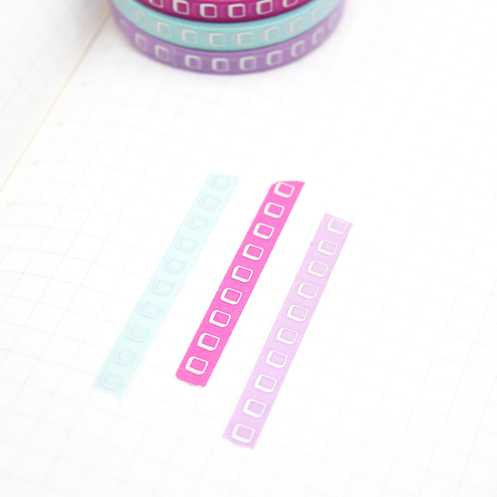 Checkbox Washi Tape With Holo Foil
