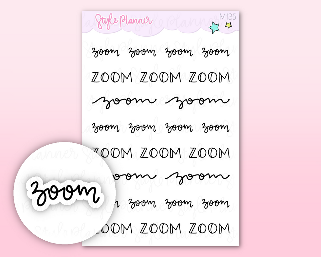 Mini Zoom Stickers