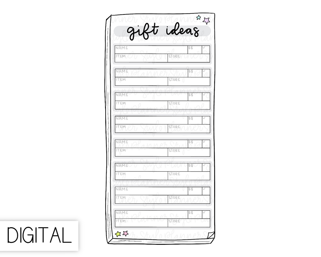 DIGITAL Weeks Gift Ideas Flake
