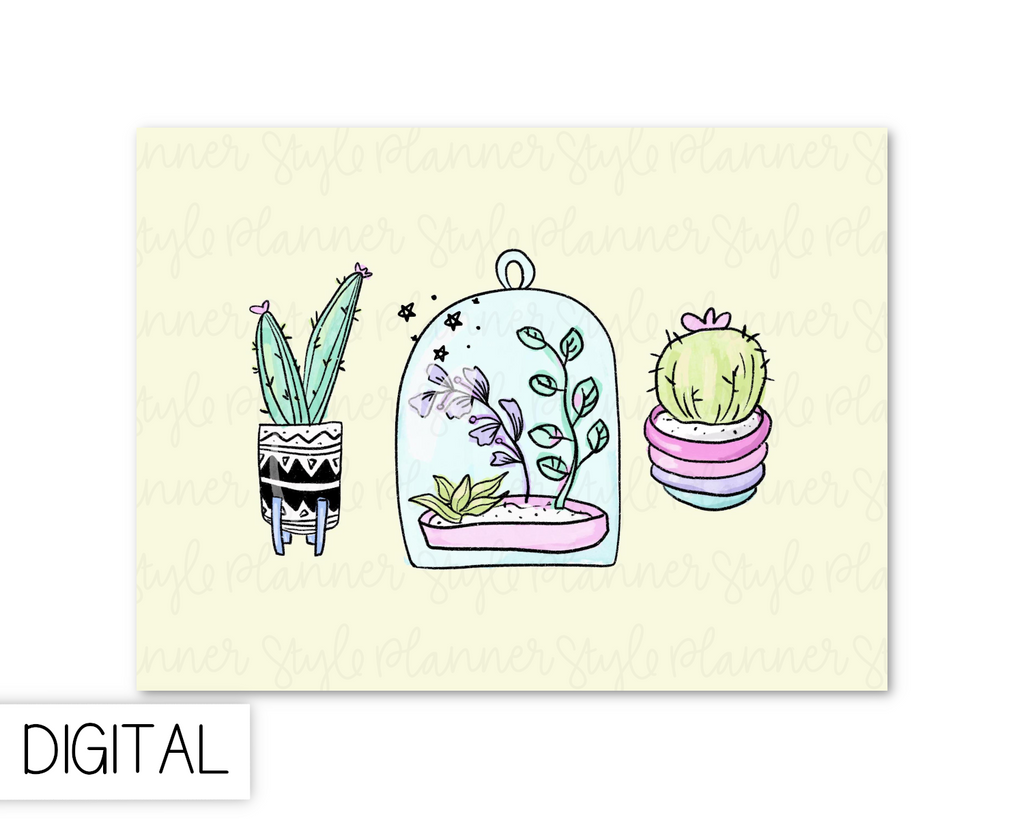 DIGITAL Terrarium Journaling Card