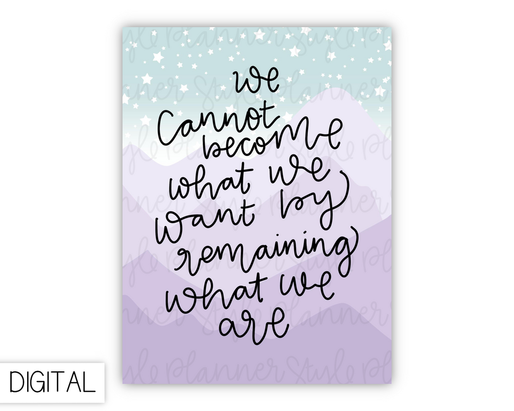 DIGITAL Quote Journaling Card