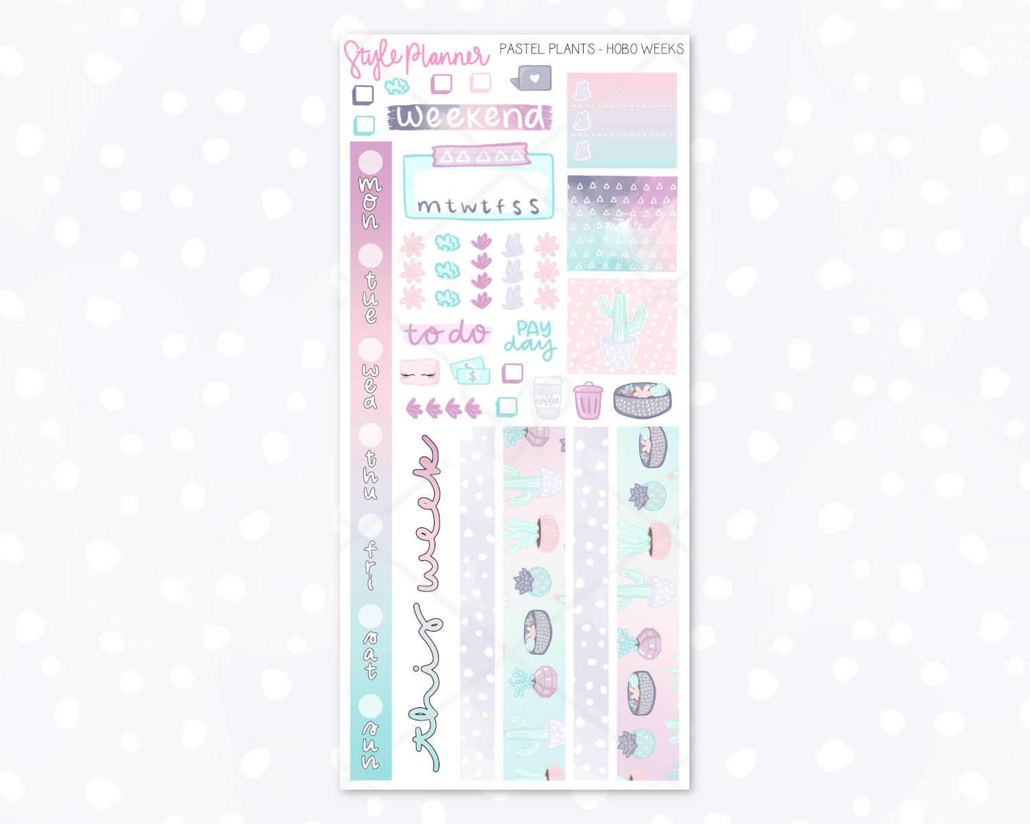 Pastel Plants Hobo Weeks Mini Kit