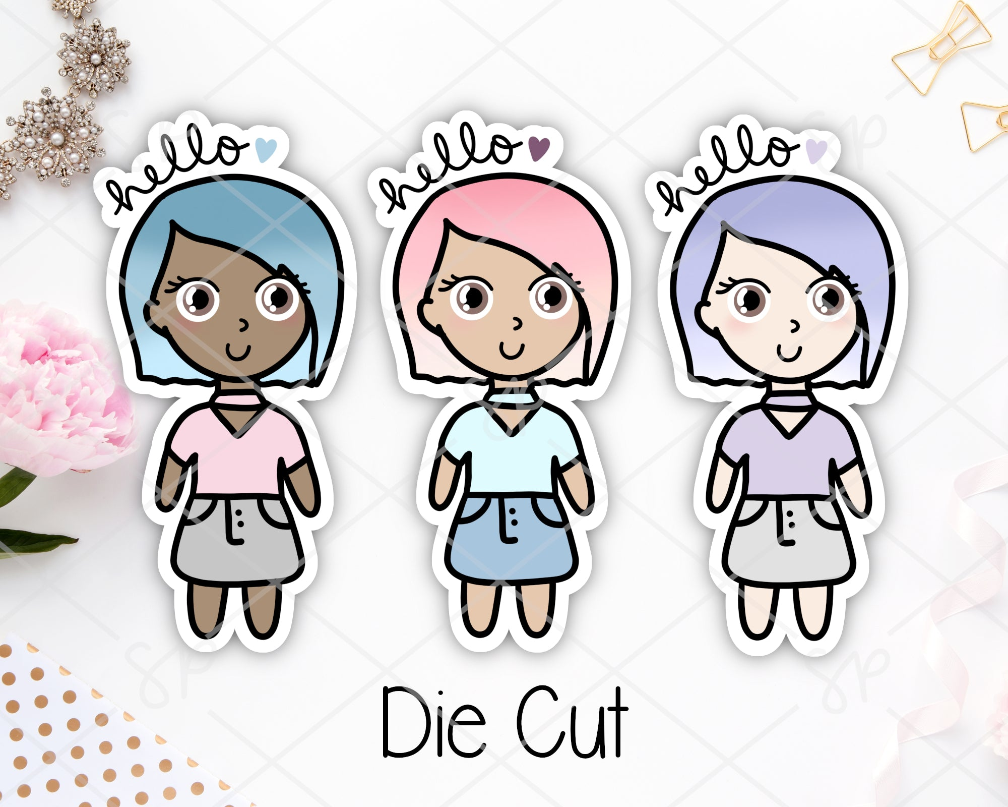 Hello SP Girl Squad | Die Cut