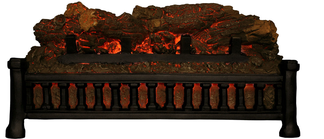 Stand-Alone Electric Log Set With Glowing Embers and Crackling Log Sound F/x for Existing Hearths (No Heat)
