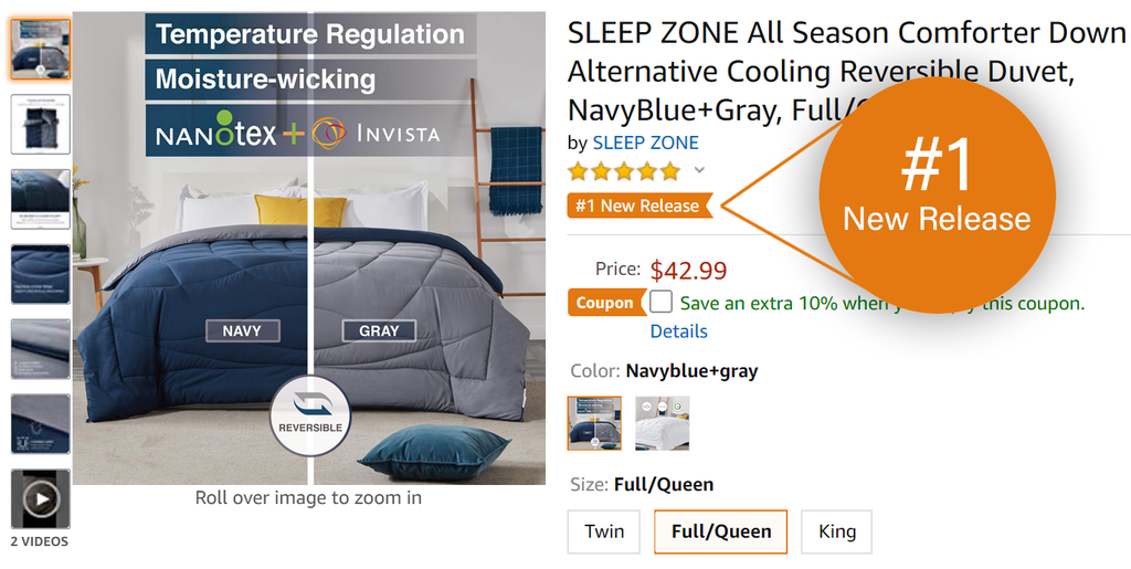SleepZone,NanoTex,Bedding,Comforter,CounponCode,Discount