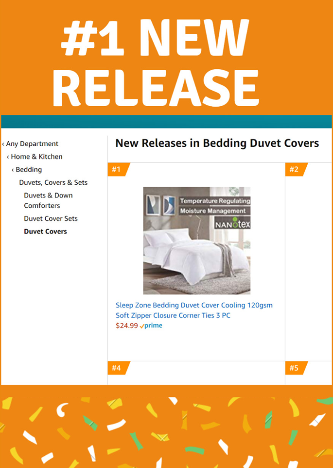 Sleep zone bedding duvet cover best-seller