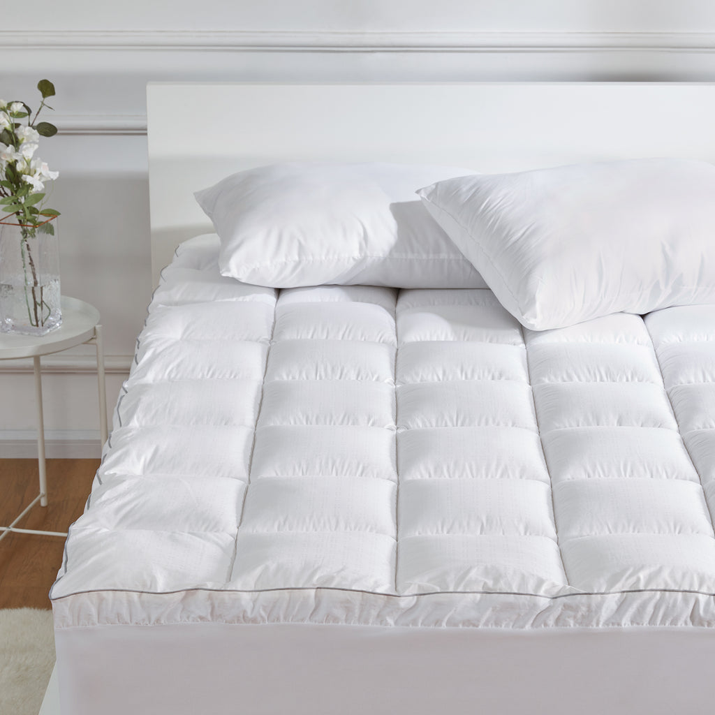 sleep zone bedding luxury extreme thick cotton mattress pad white bedroom sunshine full queen king