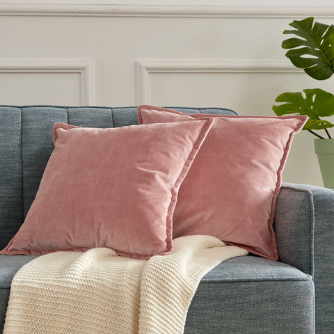 Sleep Zone® Set of 2 Velvet Throw Pillowcase Covers