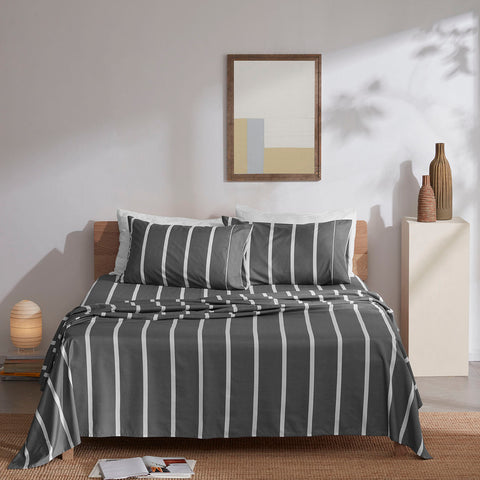 Sleep Zone® Printed Stripe Sheet Set