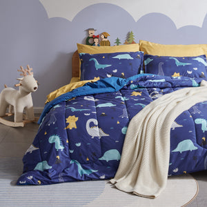 Sleep Zone® Dino Family Kids Comforter Set