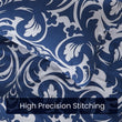 Load image into Gallery viewer, Sleep Zone®Baroque Floral Blue Duvet Cover Set