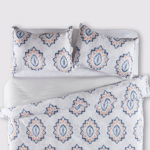 Vintage Damask Printed Duvet Cover Set