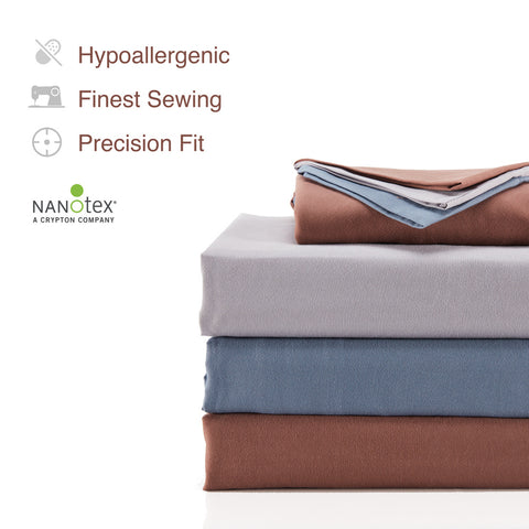 SLEEP ZONE® Bed Sheet sets Cooling Soft Wrinkle Free Fade Resistant Easy Sheets 4 PC