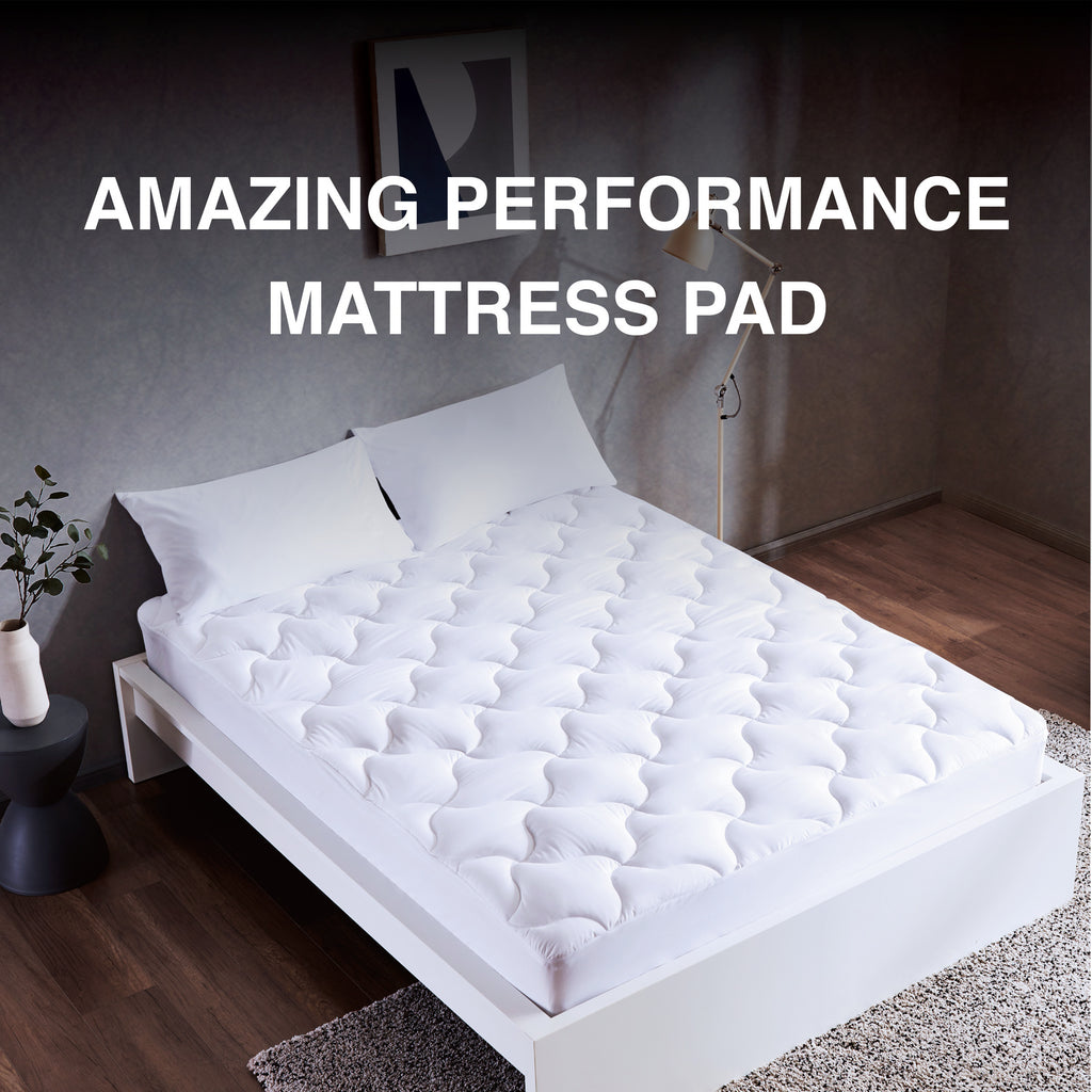 SLEEP ZONE® Quilted Mattress Pad Cover Cooling Fluffy Soft Topper upto 21 inch Pocket
