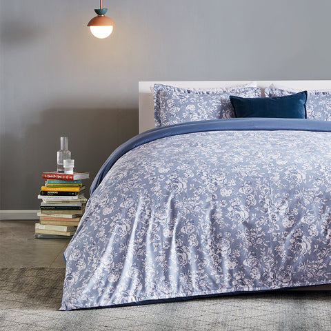 Sleep Zone® Elegant Peony Printed Duvet Cover Set