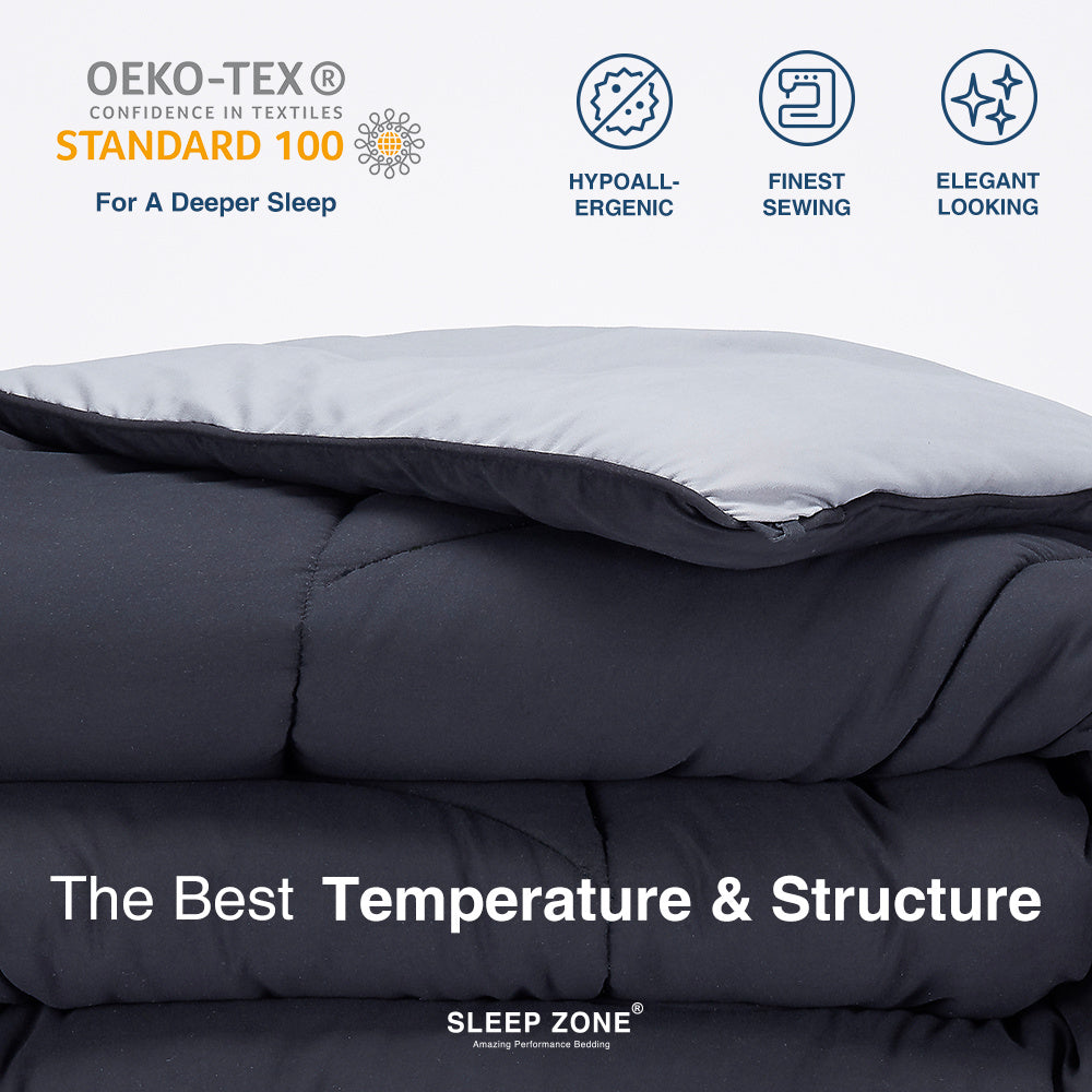 Sleep Zone All Season Reversible Comforter