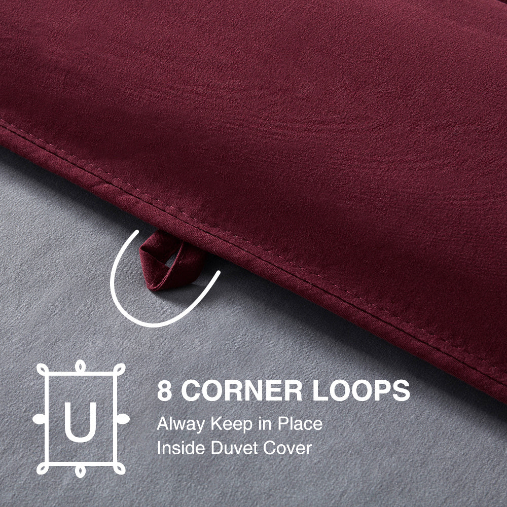 SLEEP ZONE® All Season Comforter Down Alternative Soft Cooling Reversible Duvet Burgundy Gray Twin Full Queen King
