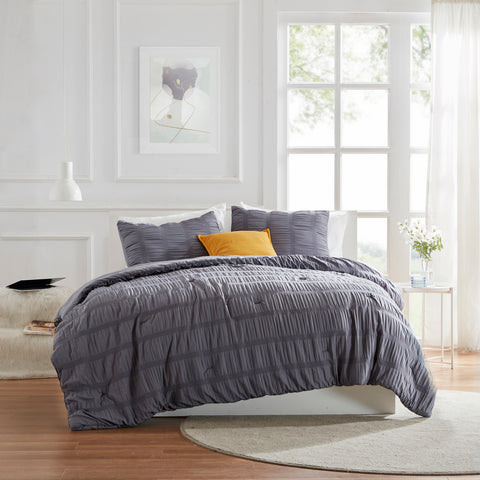 Sleep Zone® Modern Luxe Seersucker Comforter Set
