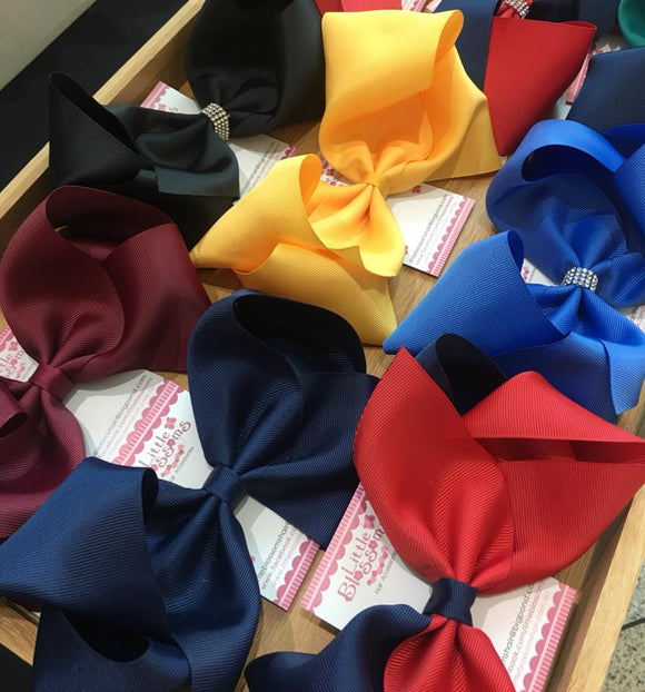 Large School Hair Bow Clip
