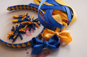 Royal Blue and Yellow Gold School Set
