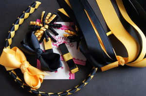 Black and Yellow Gold School Set