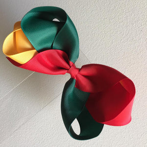 "Multi Coloured 5.5"" Loopy Bow"