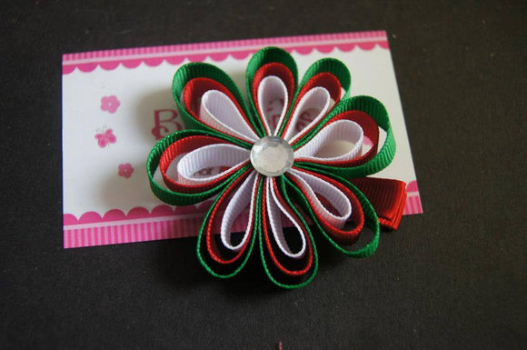 Christmas Flower Clip