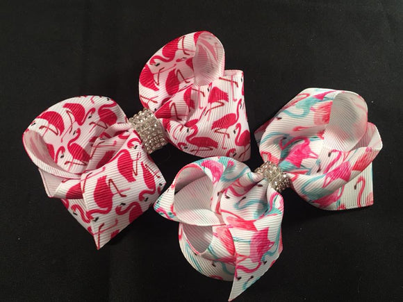 "3.5"" Flamingo bow (choice of 2 colours)"
