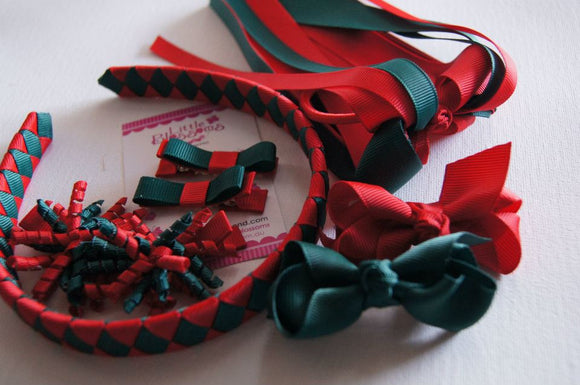 Green and Red School Set
