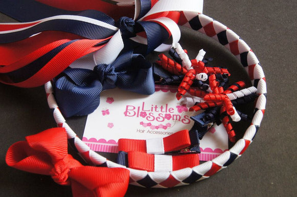 Navy, Red and White School Set