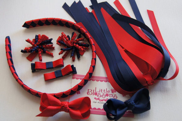 Navy and Red School Set