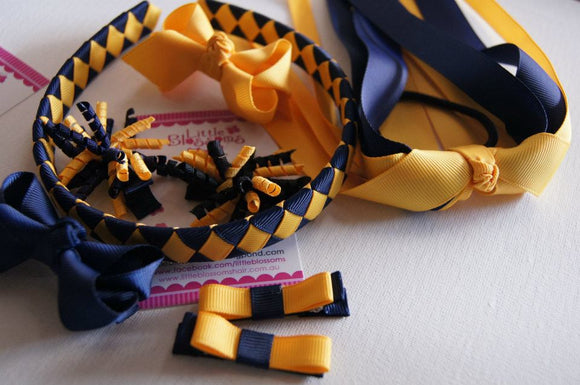 Navy and Yellow Gold School Set