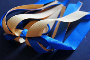 Long Straight School Ribbon Hair ties (multiple colours)