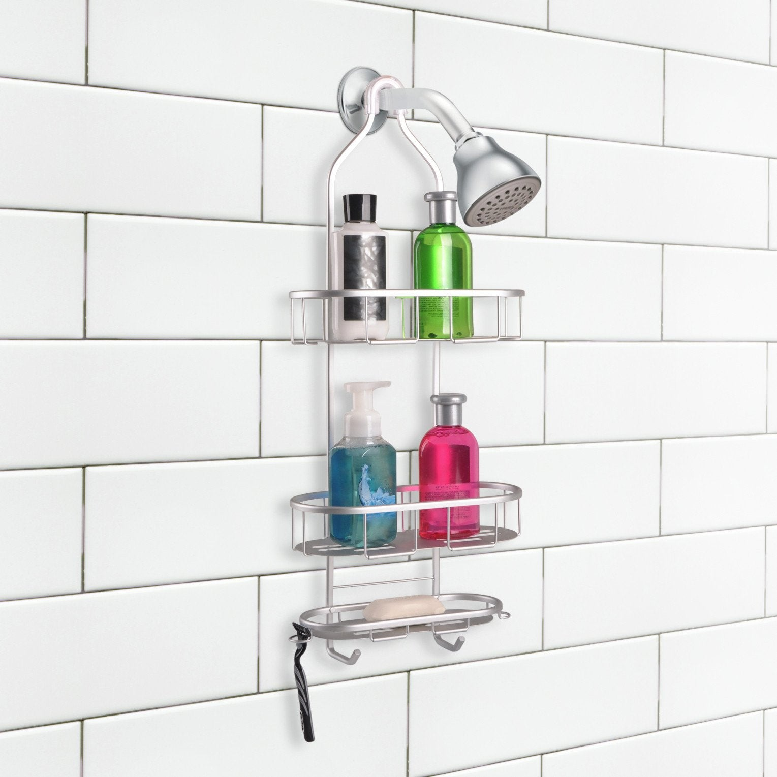 Loft97 Aluminum Rustproof Shower Caddy, 3 Shelf