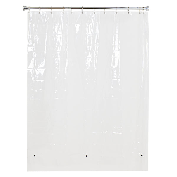 "Loft 97 72""X72"" 4.8G Clear PEVA Shower Curtain Liner with Magnets"