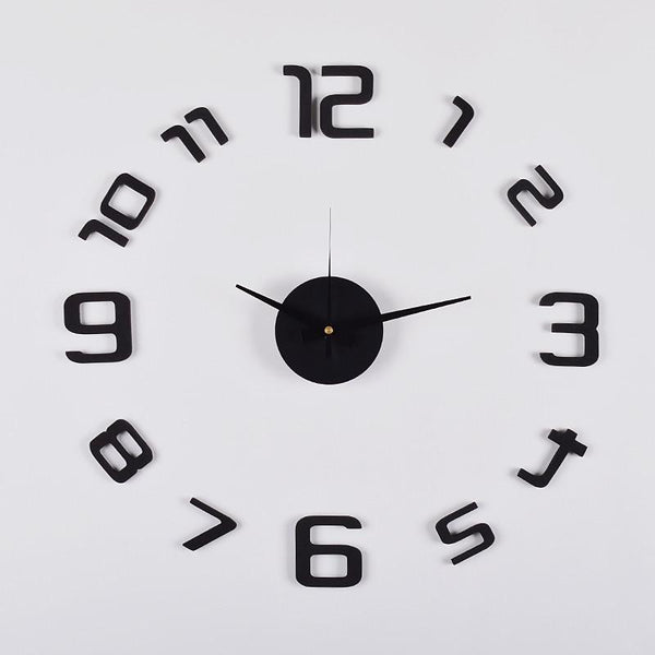 "3D Frameless Wall Clock, 20"" (Flexible Size) , Black - Loft97 - 7"