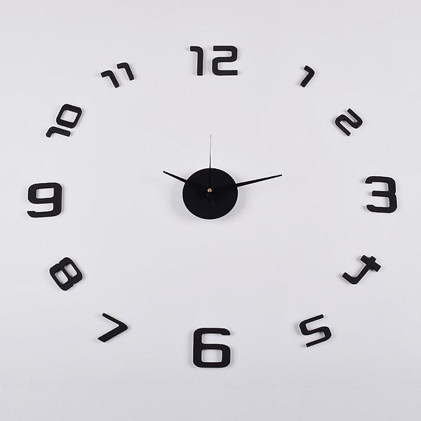"3D Frameless Wall Clock, 20"" (Flexible Size) , Black - Loft97 - 3"