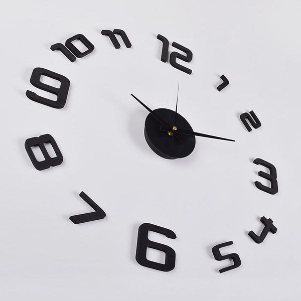 "3D Frameless Wall Clock, 20"" (Flexible Size) , Black - Loft97 - 5"