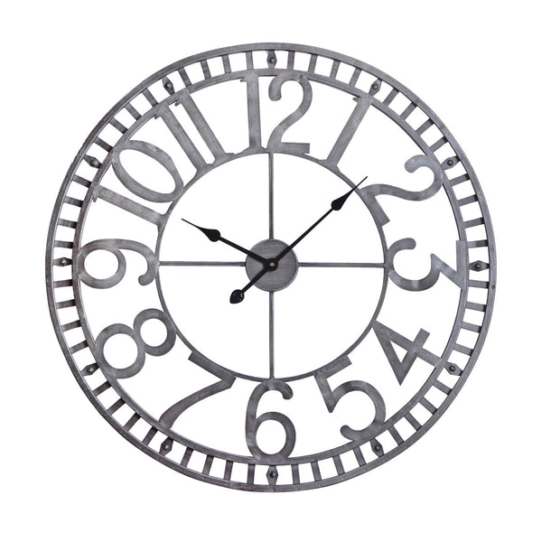 "Manhattan Industrial Wall Clock, Analog, Pewter, 32"" Loft97"