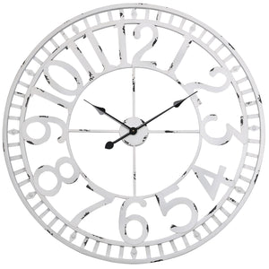 Loft97 Manhattan Industrial Wall Clock, Analog, White, 32""