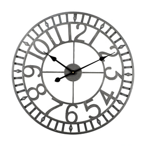 Loft97 Manhattan Industrial Wall Clock, Analog, Gray, 24""