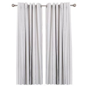 "Loft97 Curtain Rod with Round Finials, Adjustable Length 28-48"", Satin Nickel"