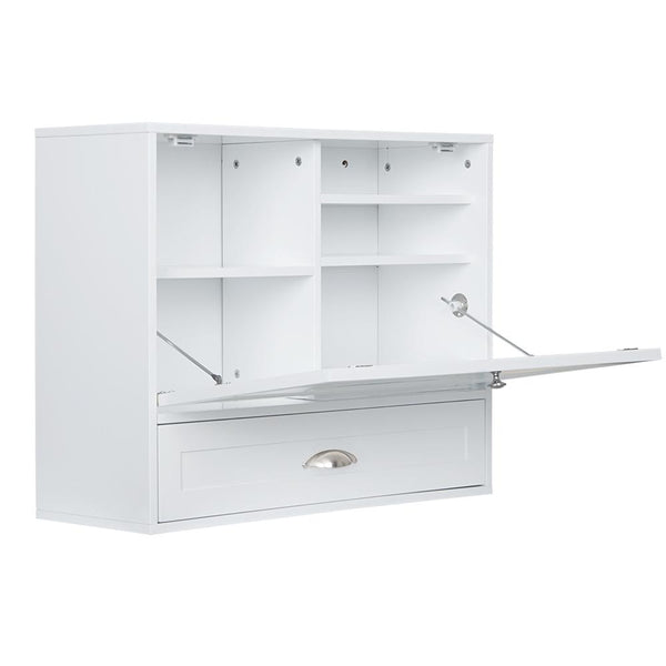 Loft97 Space Saving Wall Mount Laptop Desk, White