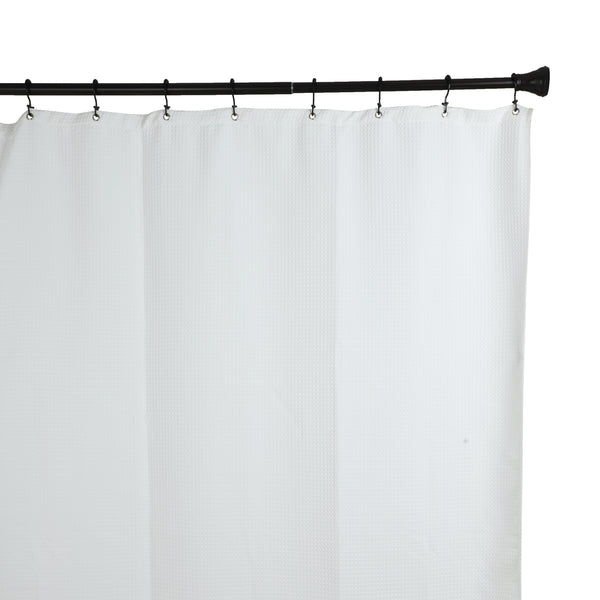Utopia Alley Deco Flat Double Roller Shower Curtain Hooks, Black