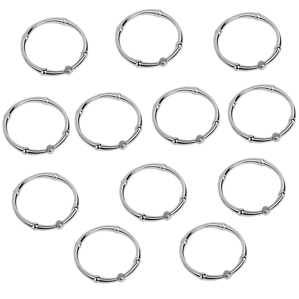 Utopia Alley Shower Vivtoria Curtain Rings, Never Rust Rustproof Zinc Shower Curtain Rings for Bathroom Shower Rods Curtains - Set of 12