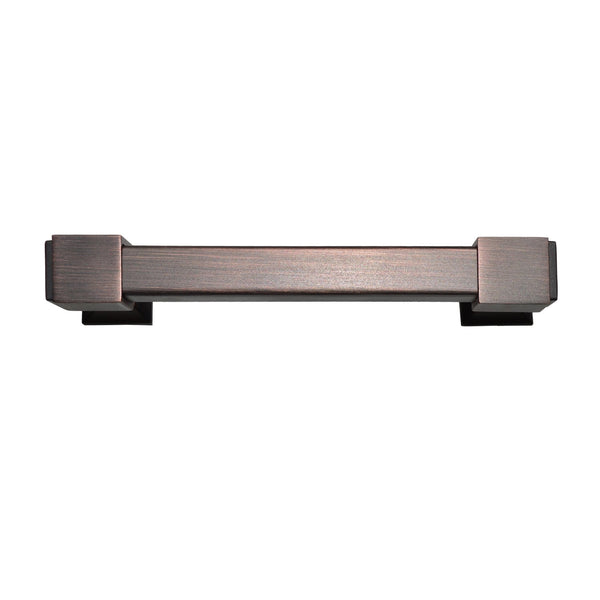 "Loft97 Brett Cabinet Pull, Square Edge, 4"" Center to Center, Oil Rubbed Bronze"