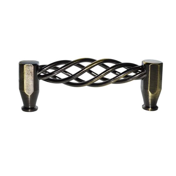 "Loft97 Aire Cabinet Pull, 3.8"" Center to Center, Antique Brass"