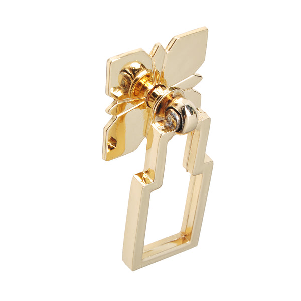 "Loft97 Steffi Drop Ring Cabinet Hardware, 2.5"", Polished Gold"
