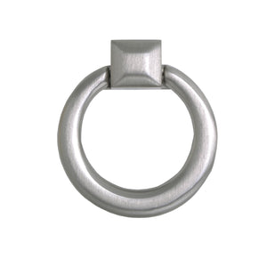"Loft97 Anello Ring Cabinet Pull, 1.6"" x 1.9"", Brushed Nickel"